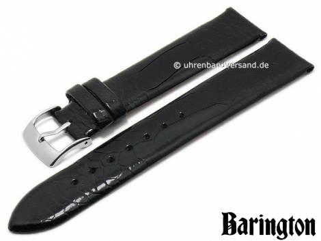 Watch strap 16mm black genuine ostrich leg by BARINGTON (width of buckle 14 mm) - Bild vergrößern