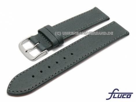 Watch strap -Pig- 18mm dark grey pig leather grained by FLUCO (width of buckle 18 mm) - Bild vergrößern