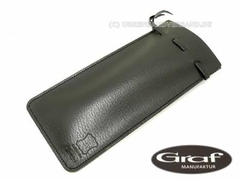 Watch case black for 1 watch real leather - Bild vergrößern