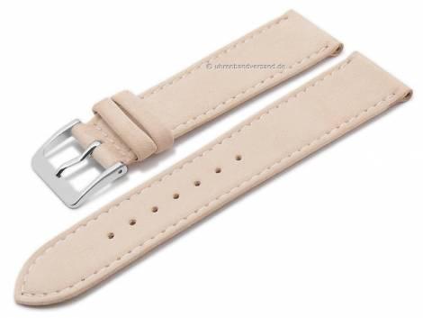 Watch strap XS -Luna- 16mm beige natural leather certified suede like matt stitched by GRAF (width of buckle 14 mm) - Bild vergrößern