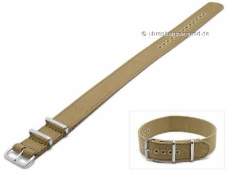 Watch strap 22mm ocher Canvas (textile) NATO style with 2 loops by ZULUDIVER - Bild vergrößern