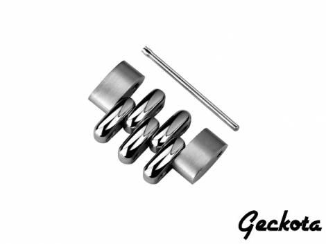 Individual link for watch band model Gk-MC121 20mm stainless steel partly polished - Bild vergrößern