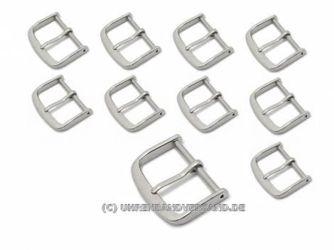 Pack of 10 Buckles, Standard (HeDS-2001) 20mm stainless steel polished - Bild vergrößern