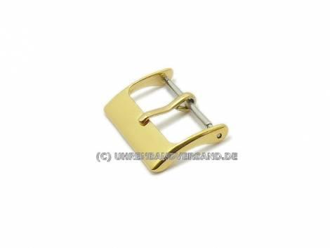 Buckle (HeDS-2004) STANDARD 20mm stainless steel golden polished - Bild vergrößern