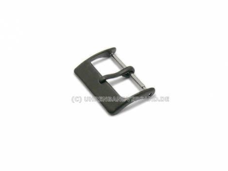 Buckle STANDARD (HeDS-2005) 22mm stainless steel black matt - Bild vergrößern