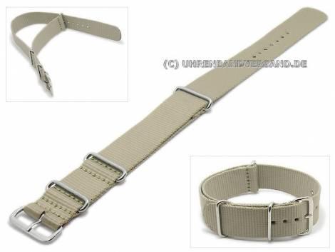 Watch band 20mm gray NATO-style - Bild vergrößern