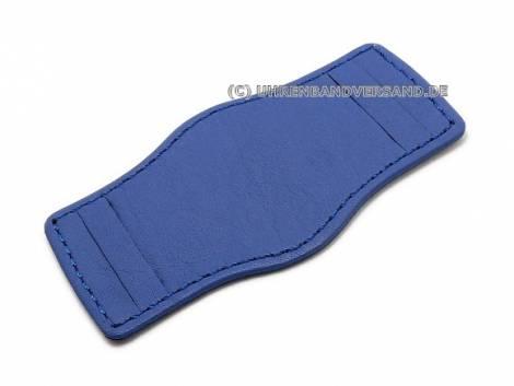 Leather pad 20-24mm royal blue stitched - Bild vergrößern