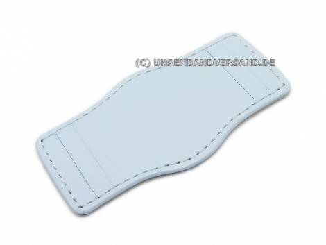 Leather pad 20-24mm ice blue stitched - Bild vergrößern