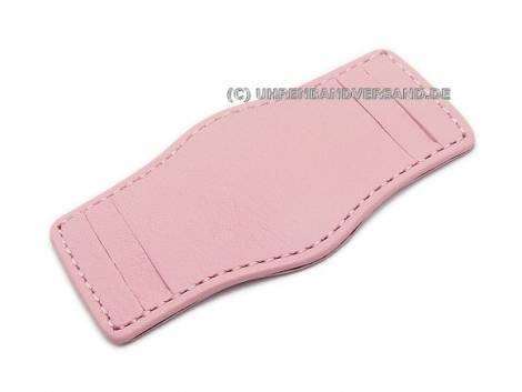 Leather pad 16-18mm pink stitched - Bild vergrößern