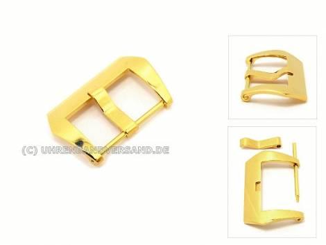 Large Buckle (HeBD-2015)  suitable for Panerai stainless steel 20mm polished golden - Bild vergrößern