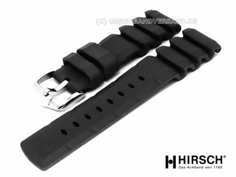Watch band -Extreme- 20mm black natural caoutchouc by HIRSCH (width of buckle 18 mm) - Bild vergrößern