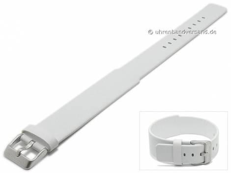 Replacement watch strap JACOB JENSEN 18-22mm white leather one piece strap for Curve 253 - Bild vergrößern