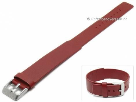Replacement watch strap JACOB JENSEN 18-22mm red leather one piece strap for Curve 255 - Bild vergrößern