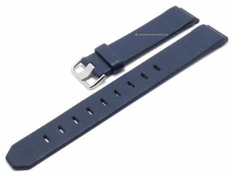 Replacement watch strap JACOB JENSEN 17mm blue leather special lug ends for 800 series - Bild vergrößern