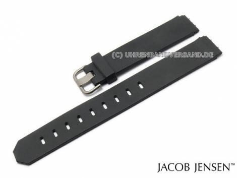 Replacement watch strap JACOB JENSEN 17mm black rubber special lug ends for 600 series - Bild vergrößern