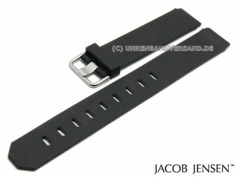 Replacement watch strap JACOB JENSEN 17mm black caoutchouc special lug ends for 750, 760 New series - Bild vergrößern
