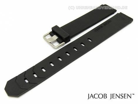 Replacement strap JACOB JENSEN 19mm rubber black for chronos 600, 601 and 602 - Bild vergrößern