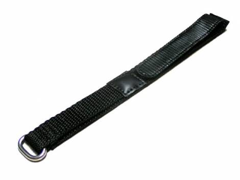 Watch band 22mm black hook and loop - Bild vergrößern
