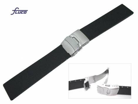 Watch band 22mm caoutchouc deployant clasp by Fluco - Bild vergrößern