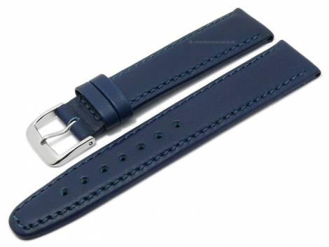 Deluxe-Watch strap 21mm dark blue HORWEEN ESSEX leather KUKI-FLEX vegetable tanned by KUKI (width of buckle 18 mm) - Bild vergrößern