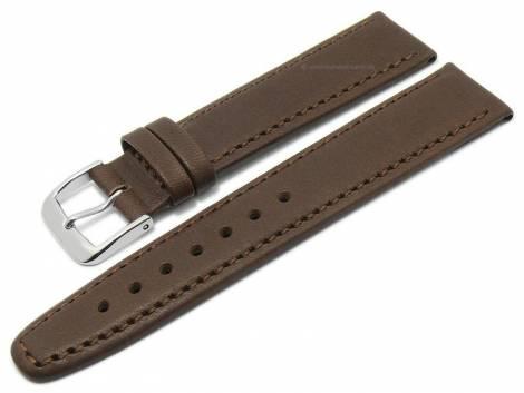 Deluxe-Watch strap 21mm dark brown HORWEEN ESSEX leather KUKI-FLEX vegetable tanned by KUKI (width of buckle 18 mm) - Bild vergrößern