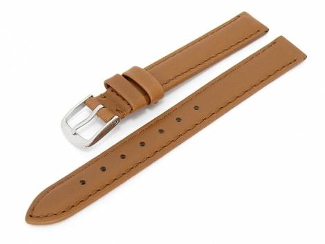 Watch band XL 14mm brown smooth surface (width of buckle 12 mm) - Bild vergrößern