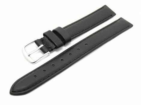 Watch band XL 14mm black smooth surface (width of buckle 12 mm) - Bild vergrößern