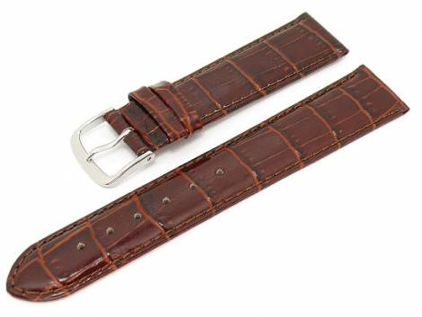 Watch band XL 20mm auburn alligator grain (width of buckle 20 mm) - Bild vergrößern