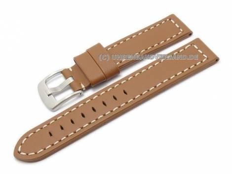 Watch band leather brown Aviator Style 22mm (width of buckle 20 mm) - Bild vergrößern