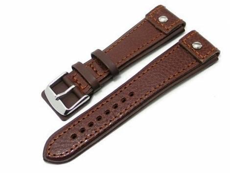 Watch band 20mm dark brown CHRONO EXTREME grained surface - Bild vergrößern