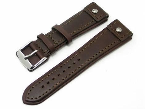 Watch band 20mm dark brown stitched CHRONO EXTREME - Bild vergrößern
