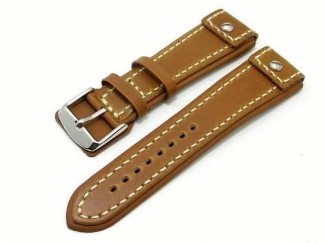 Watch band 20mm brown CHRONO EXTREME white seam - Bild vergrößern