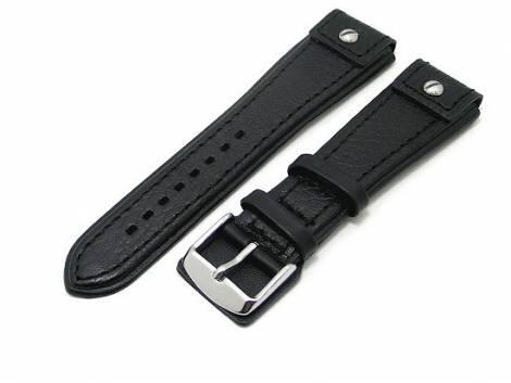 Watch band 20mm black CHRONO EXTREME grained surface - Bild vergrößern