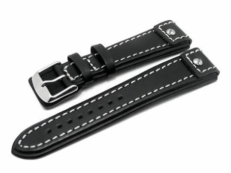 Watch band 20mm black CHRONO EXTREME white stitching - Bild vergrößern