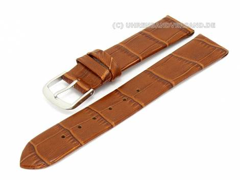Watch band 18mm for fixed bars alligator grain (width of buckle 16 mm) - Bild vergrößern