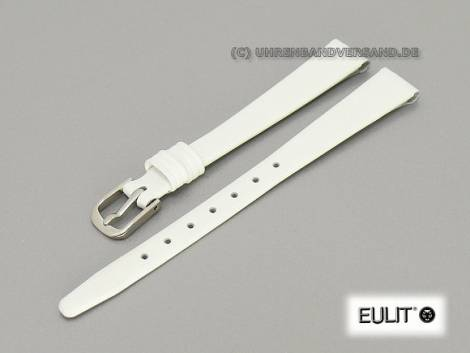 Watch band 09mm white EULIT -Natina Clip- open end smooth surface (width of buckle 08 mm) - Bild vergrößern