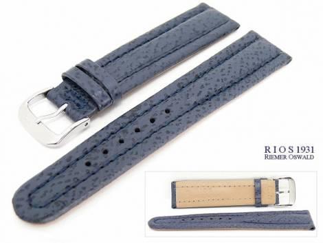 Watch band 20mm dark blue by RIOS genuine Shark - Bild vergrößern