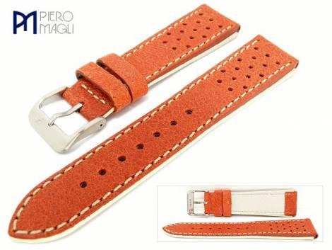 Watch band -Engraissed- 20mm orange antique look by Piero Magli (width of buckle 18 mm) - Bild vergrößern
