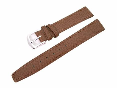 watch band 10mm for fixed bars brown grained surface by Eichmueller (width of buckle 8 mm) - Bild vergrößern