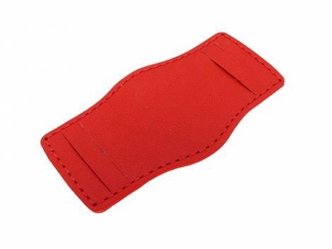 Leather pad 16-18mm red stitched - Bild vergrößern