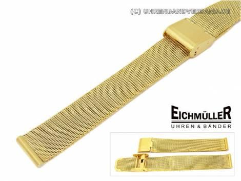 Watch band 12mm stainless steel golden mesh elegant push buckle - Bild vergrößern