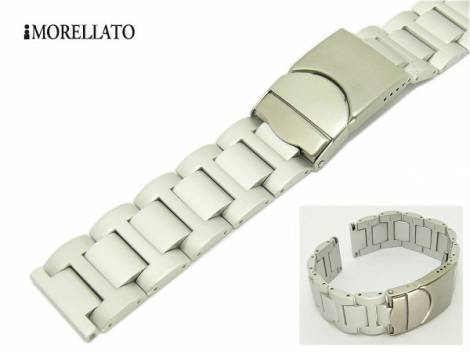 Watch strap 20mm aluminium -Quasar- matt by MORELLATO - Bild vergrößern
