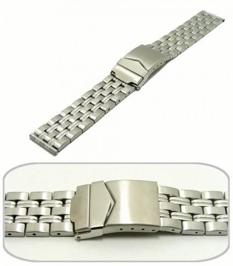 Watch band 20mm stainless steel solid-look casual design from Eichmueller - Bild vergrößern