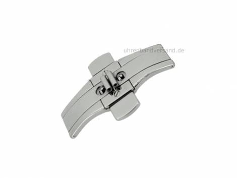 Butterfly clasp (CsMFS1000) 22/06mm stainless steel with push button polished for metal watch straps - Bild vergrößern