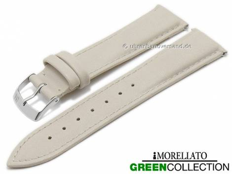 Watch strap -Trend- 16mm EASY-CLICK beige synthetic stitched GREEN COLLECTION by MORELLATO (width of buckle 14 mm) - Bild vergrößern