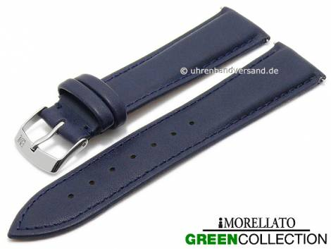 Watch strap -Trend- 16mm EASY-CLICK dark blue synthetic stitched GREEN COLLECTION by MORELLATO (width of buckle 14 mm) - Bild vergrößern