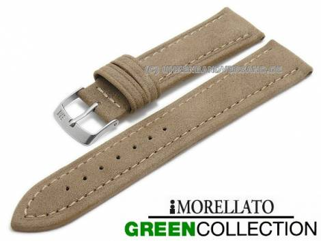 Watch strap -Melograno- 18mm light brown synthetic stitched GREEN COLLECTION by MORELLATO (width of buckle 16 mm) - Bild vergrößern