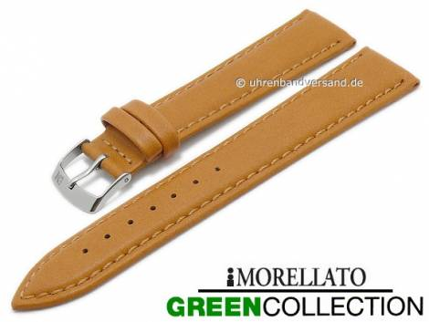 Watch strap -Agrifoglio- 20mm light brown synthetic smooth GREEN COLLECTION by MORELLATO (width of buckle 18 mm) - Bild vergrößern