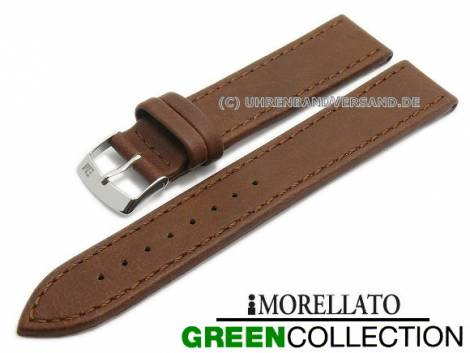 Watch strap XL -Abete- 20mm brown synthetic stitched GREEN COLLECTION by MORELLATO (width of buckle 18 mm) - Bild vergrößern