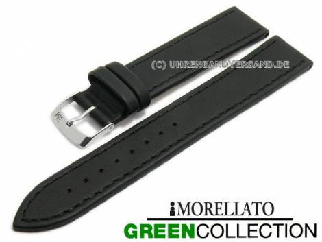 Watch strap XL -Abete- 16mm black synthetic stitched GREEN COLLECTION by MORELLATO (width of buckle 14 mm) - Bild vergrößern